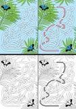 Vlinderlabyrint stock illustratie