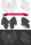 Vlinderpictogrammen Stock Fotografie