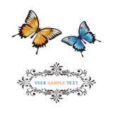 Vlinders. Royalty-vrije Stock Afbeeldingen