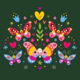 Vlinders royalty-vrije illustratie