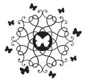 Vlinders & Decoratieve Elementen Stock Afbeeldingen