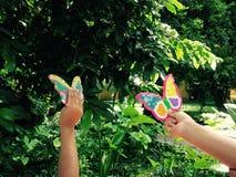 Vlinders in de Lucht Stock Afbeelding