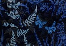 Vlinders in de nacht. Royalty-vrije Stock Afbeeldingen