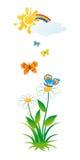 Vlinders en bloemen. Royalty-vrije Stock Foto