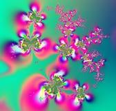 Vlinders en bloemenfractal Stock Afbeeldingen