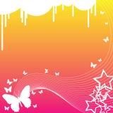 Vlinders en Sterren vector illustratie