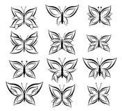 Vlinders - illustratie Royalty-vrije Stock Afbeelding