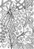 Vlinders met decoratieve stijl stock illustratie