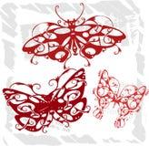 Vlinders in Moderne Stijl - Reeks 4. Royalty-vrije Stock Afbeeldingen