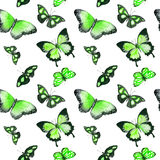 Vlinders Naadloze Achtergrond watercolor Royalty-vrije Stock Fotografie