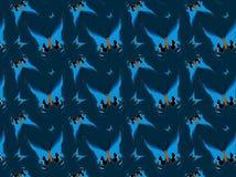 Vlinders op blauwe achtergrond, herhaald patroon Royalty-vrije Stock Afbeeldingen