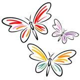 Vlinders (Vector) Stock Foto