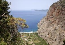Vlindervallei in Oludeniz/Fethiye Royalty-vrije Stock Afbeeldingen