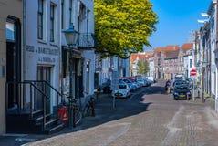Vlissingen, the Netherlands - April 2015: View of the Nieuwstraat stock photography