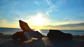 Vlissingen nollestrand monument allied forces world war 2 Royalty Free Stock Photo