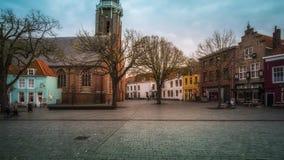 Vlissingen, Zeeland Holandia, holandie,/- Listopad 2017: Kościelny święty Jakob Sint Jacobskerk w centrum miasteczko obraz stock