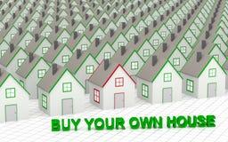 Välj och köp ditt eget hus Fotografering för Bildbyråer