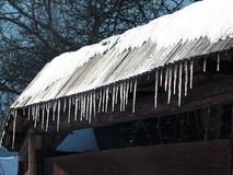 Vlkolínec winter royalty free stock photos