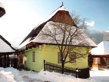 Vlkolínec winter Stock Photography
