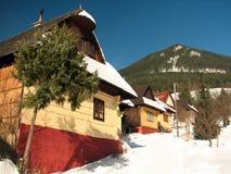 Vlkolínec winter Stock Photos