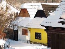 Vlkolínec winter Royalty Free Stock Image