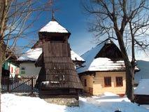 Vlkolínec winter Royalty Free Stock Photo