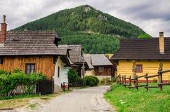 Vlkolinec -一个历史的村庄在斯洛伐克 免版税库存照片