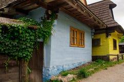 Vlkolinec - een historisch dorp in Slowakije Stock Fotografie