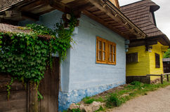 Vlkolinec - en historisk by i Slovakien Arkivbild