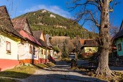 Vlkolinec, Eslovaquia Foto de archivo libre de regalías