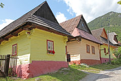 Vlkolinec - picturesque historical village, Slovak Stock Photos