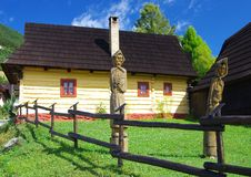 Vlkolinec - picturesque historical village Royalty Free Stock Photos