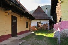 Vlkolinec - pueblo eslovaco enumerado en lista del patrimonio mundial de la UNESCO foto de archivo
