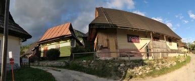 Vlkolinec - slovak by som listas på lista för UNESCOvärldsarv arkivbilder