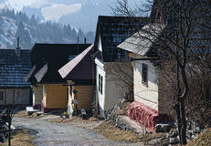 Vlkolinec, Slovakia. Vlkolinec is part of the UNESCO World Heritage since 1993,and one of ten Slovak villages that have a status of a village preserve. It is Royalty Free Stock Image