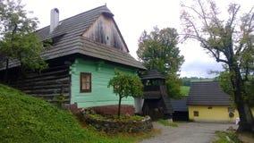 Vlkolinec - Slowakei Stockbild
