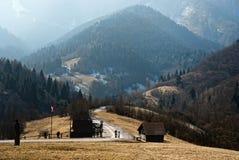 Vlkolinec, Slowakije stock fotografie