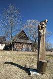Vlkolinec, Slowakije royalty-vrije stock foto's