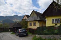 Vlkolinec, Unesco in Slowakije Royalty-vrije Stock Foto