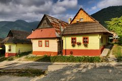 Vlkolinec village Royalty Free Stock Photography
