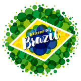 Välkomnande till det Brasilien banret Royaltyfri Fotografi