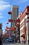 Välkomnande till kineskvarteret Melbourne, Australien Fotografering för Bildbyråer