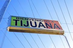 Välkomnande till Tijuana, Mexico Royaltyfri Fotografi
