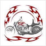 Vélo flamboyant - le rétro couperet et le tribal flambent Photos stock