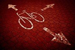 vélo/voie de recyclage dans une ville Image libre de droits