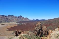 Vlocanic pustyni krajobraz, El Teide zdjęcie stock