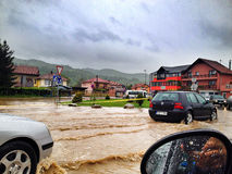 Vloed in Bosnië Royalty-vrije Stock Afbeeldingen