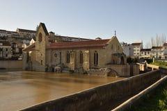 Vloed in Coimbra Portugal Royalty-vrije Stock Foto's