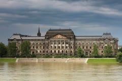 Vloed in Dresden Stock Foto's