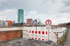Vloed in Frankfurt Royalty-vrije Stock Afbeelding